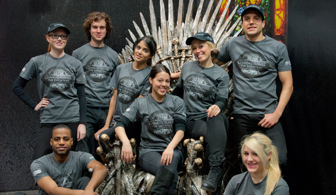Promo Staffing Game of Thrones the Exhibition NYC